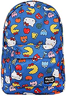 Loungefly x Hello Kitty x Pac Man Characters AOP Backpack