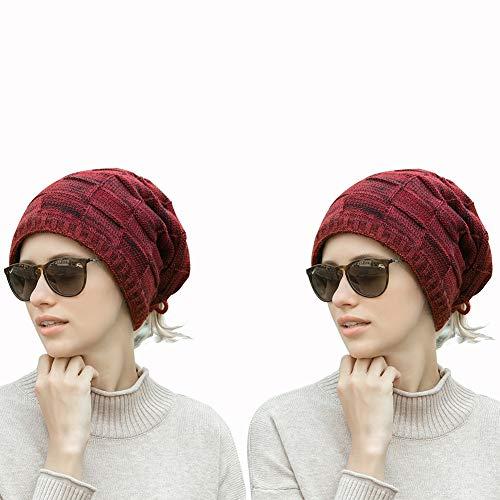 2 stuks wintermutsen vrouw mouwen hoed sjaal multifunctionele pluche man gebreide muts geniet in de winter van het leven in de buitenlucht