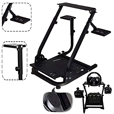 Marada G920 Racing Steering Wheel Stand Driving Simulator Cockpit Pro Compatible with Logitech G25, G27, G29,G920 Wheels and Thrustmaster T300RS and T500RS Wheel & Pedals Not Included.