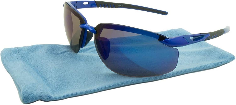 Alta Vision Sunglasses  Sport Tahoe Frame  Black and bluee Lens  blueeLR169139blue