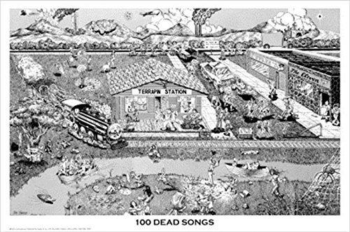 Buyartforless Grateful Dead 100 Songs 36x24 Music Art Poster Print Wall Decor Jerry Garcia Dead Heads