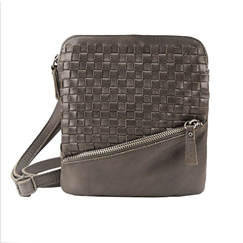 Greenburry Billy the Kid Nasty Cowboys Shoulderbag Emporia lederen schoudertas voor dames stonegrey