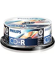 Philips CD-R blanks (700 MB data / 80 minuten, 52x High Speed opname, 25 spindel)