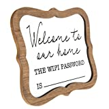 Welcome WiFi Password Whiteboard Desk or Table Sign