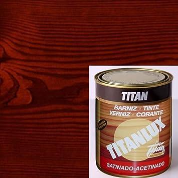 Titanlux Titan Barniz Tinte Satinado Nogal 375 ml: Amazon.es ...
