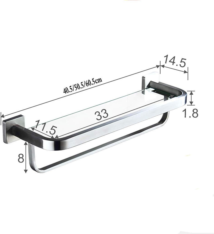 GFF Bathroom Racks Bathroom Shelf 304 Stainless Steel Bathroom Shelf Bathroom Wall Hanging (Size   40.5cm)