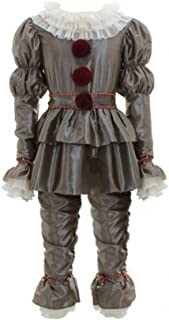 Halloween Kids Clown Cosplay Costume Horror Dress Up Pennywise Outfit