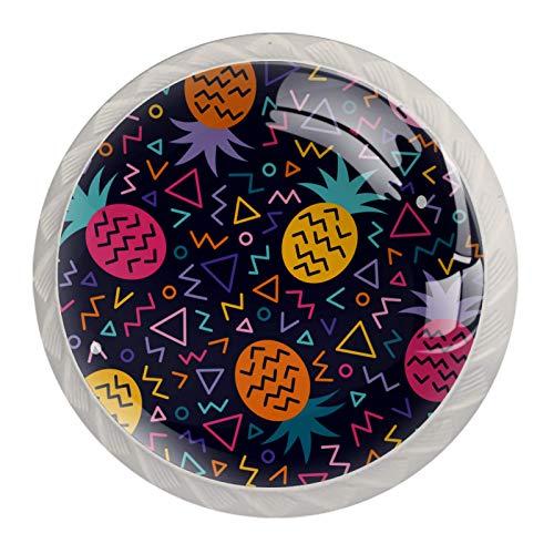 Blanco Perillas Redondas Piña de color Hecho a Mano perilla del gabinete para los cajones del tocador de la habitación infantil (con Tornillos) 35mm