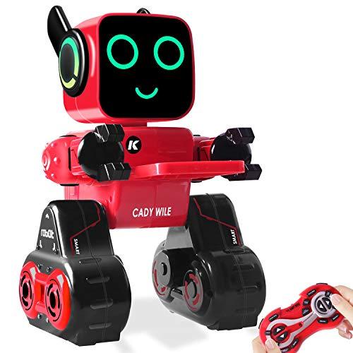 HBUDS Kinder Roboter Spielzeug & Geschenk - Fernbedienung, Touch & Soundsteuerung Interaktiver Smart Roboter mit Sparbüchse, Geld-Management RC Roboter Lernspielzeug