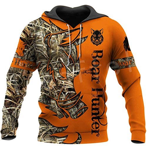 Boar Hunter Animal Hunting Camo Tattoo 3Dprint Pullover Fashion Streetwear Zip/Sweatshirts/Hoodies/Jacket