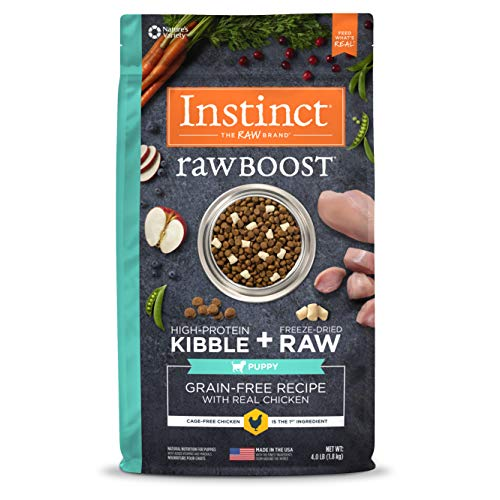 Instinct Raw Boost Grain Free Puppy Food, Natural High Protein Kibble + Freeze Dried Raw Dry Puppy Food, 4 lb. Bag