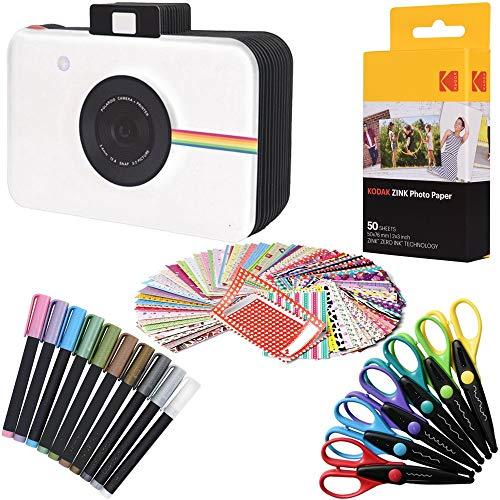Kodak Papel fotográfico Premium Zink (50 hojas) + álbum de recortes para cámara + 100 pegatinas para bordes de fotos + 10 marcadores + 6 tijeras de bordes coloridos (compatible con Printomatic)
