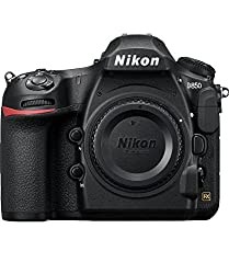 Nikon D850 camera on white background - - Clicking this image will take you to the Amazon sales page for the product