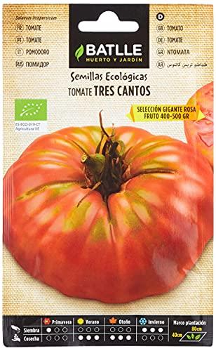Semillas Ecológicas Hortícolas - Tomate tres cantos gigante rosa - ECO - Batlle