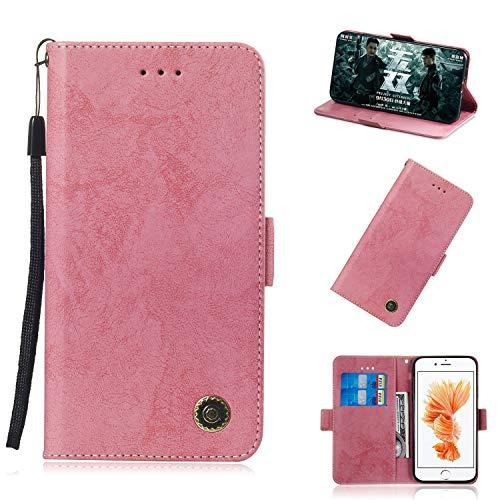 iPhone 6 Plus Hülle(5,5 Zoll), Premium Leder Handyhülle Flip Schutzhülle für Apple iPhone 6 Plus / 6S Plus Tasche / (Pink)