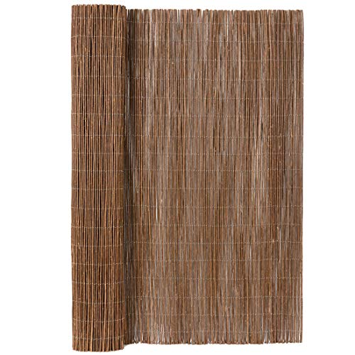 Mininfa Natural Rolled Willow Fence, Eco-Friendly Willow Fencing, 72 Inch High x 156 Inch Long, Willow Screen for Garden, Privacy