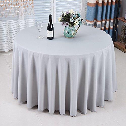 Nappes Nappe Ronde - Solide Couleur/Table à Manger/Cuisine/Nappe Hôtel/Fête Réunion Naturelle Peau Respirante Naturelle 300 Cm (Couleur : B, taille : Round- 280cm)