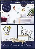 Decalcomanie da parete Disney Classic Character – 23 adesivi rimovibili e impermeabili
