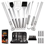 9. Capspace Grill Accessories Tools Set – 22 Pcs Grill Utensils Set – Food Grade Stainless Steel BBQ Accessories – Large Storage Case Box – for Beginners and Experts – Perfect BBQ Grill Set