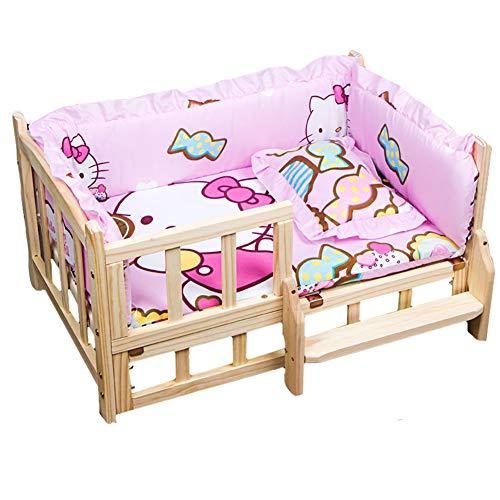 GZP Dog Houses Pinkes Hundebett, Zwinger mit atmungsaktivem Kissen, herausnehmbares und waschbares Nest. Verleihen Sie dem Hund EIN besonderes Erlebnis für große Hunde und Welpen,Rosa,S