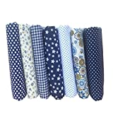 Fgyhtyjuu 7PCS / Set mezclaron la impresión 25 * 25 cm Telas Florales para Patchwork Materiales de Costura Que acolcha álbum de Recortes de Tela de algodón