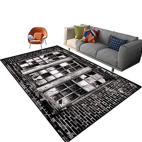Alfombras de área industrial para interiores de 5 pies x 7 pies, alfombra rectangular con respaldo antideslizante para entrada, sala de estar, dormitorio, guardería, sofá, decoración del hogar