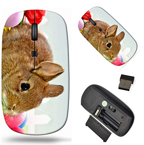 Wireless Computer Mouse 2.4G with USB Receiver, Laptop Mouse Cordless Portable and Silent Click, 1000 DPI for Office and Home, PC Laptop Computer MacBook, Image ID: 25698094 Easter Baby Rabbit