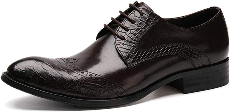 Y -H Mans skor  läder Springaa  Fall Comfort Business skor  Oxfords   bröllop  Party & Evening  Dress skor (färg  B, Storlek  42)