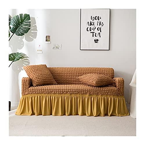 OYZK Cubierta DE Sofa ELÁSTICO DE Color SÓLIDO para LIVIONARIO Impreso a Cuadros Estiramiento Sección Siguebra Sofá Sofá Cubierta de sofá L Forma 1-4-plaza
