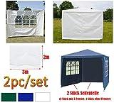 DayPlus 2 Seitenteile für Gartenpavillon, 3m x 2m Seitenteile mit Fenster (Nur 1 Seitenteile), Pavillon Seitenteile Seitenwand für 3m x 3m Pavillon und 3m x 6m Pavillon - Weiß