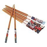 5 Paar Set Essstäbchen Japanische Natur Chopsticks aus umweltfreundlichem Bambus-Holz in edler Schatulle Geschenkbox(Cat) - 8