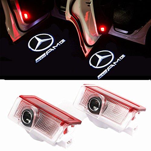 HUAYIN 4 Stück Autotür Logo Einstiegsbeleuchtung Projektion Licht Türbeleuchtung Projektor Welcome Licht