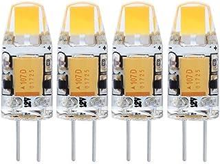 Wowatt 4x Ampoule LED G4 1.5W COB AC DC 12V Blanc Chaud 3000K Lampe Spotlight High Power Angle de Faisceau 260° 120LM Equi...