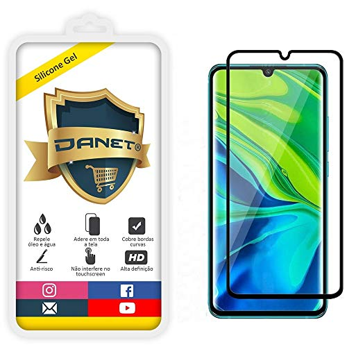 """Película Nano de Gel Silicone Flexível Para Xiaomi Mi Note 10 e Mi Note 10 Pro Tela 6.47"""""""" Polegadas - Proteção Que Adere E Cobre Toda A Tela - Danet"""