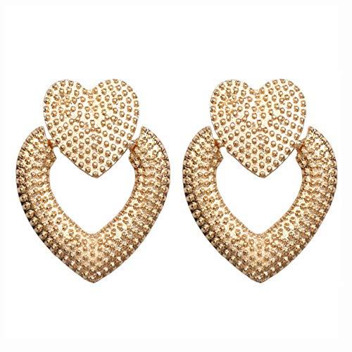 LEIXNDPLBO Vintage oorbellen groot voor vrouwen Statement oorbellen geometrische gouden metalen hanger Oorbellen Trend, 13