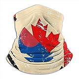Bandana Halstuch, Kanada und Südkorea, Retro-Flagge, waschbar für Joggen, Gesichtsbedeckung, 25 x 30 cm