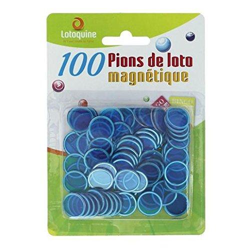 100 pions magnétiques - jetons de loto/loterie