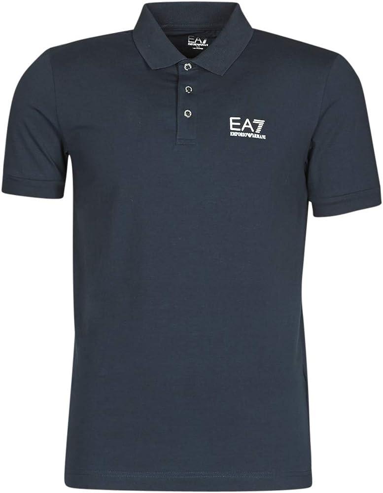 Emporio armani ea7, polo, t-shirt da uomo,maniche corte, 95% cotone, 5% elastan 8NPF04PJM5Z1578