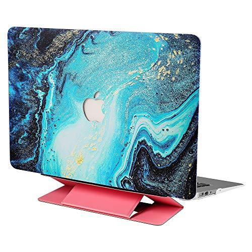 Andoer Capa protetora para laptop Substituição da capa revestida de borracha super fina para MacBook Pro 13 '' canal A1278 com suporte rosa