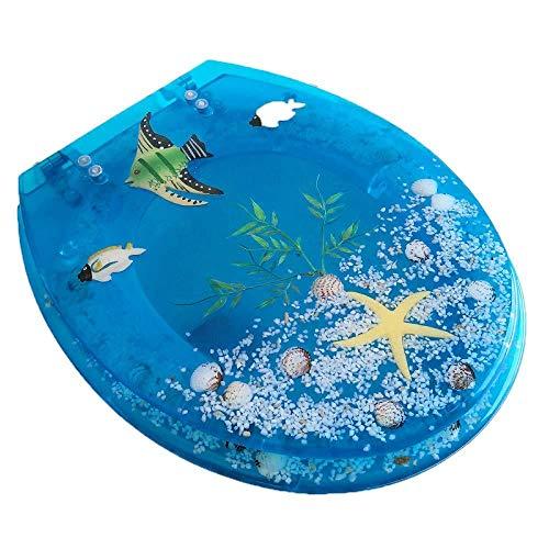 yorten Tapa de WC para Ba/ño de Madera MDF con Estampado de Piedras Tama/ño Universal