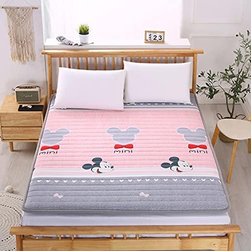 CYMX Materasso a pavimento per adulti, Futon Materasso giapponese Tatami, materasso morbido per dormitorio studentesco, famiglia, letto, pavimento, materasso singolo da campeggio, 90 cm × 190 cm