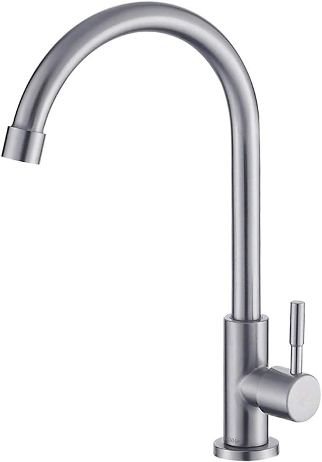 IBathUS Kitchen single cold faucet 304 stainless steel sink sink faucet