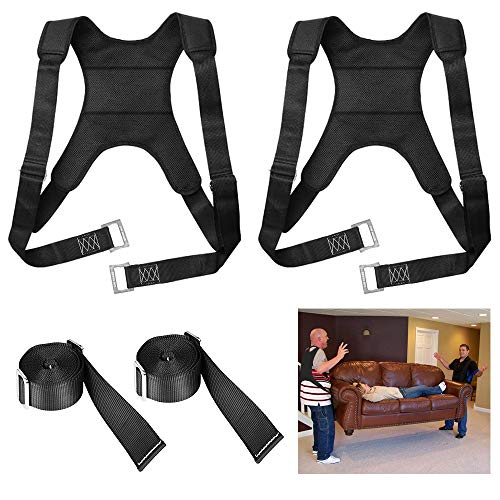 2 Person Furniture Moving Straps, Dveda Lab Test 5148 lbs Professional Adjustable Lifting Straps for Moving Furniture, Vest Furniture Carrying Belt for Heavy or Light Furniture Items