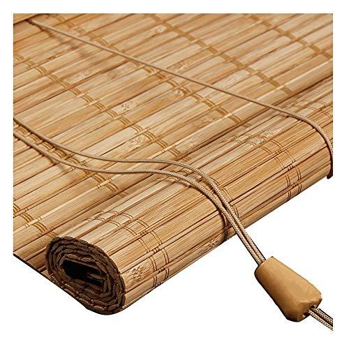 YANZHEN-Bambus Rollo Schatten Bambusrollo Raffrollos Rollo Bambus Rollos Feuchtigkeitsbeständig Sonnencreme Privatsphäre 4 Farben, 16 Größe (Color : B, Size : 50X100CM)