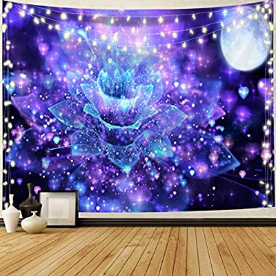 Flower Floral Tapestry Wall Hangings Mountain Tapestry Nature Landscape Tapestry for Bedroom Living Room Wall Decor(51.2 x 59.1 inches)