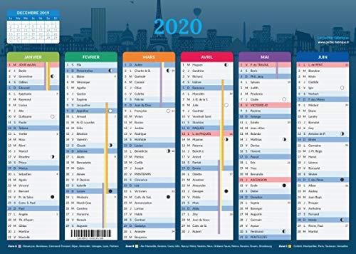 Calendrier 2021 - format A4 - Papier épais - prévu pour l'écriture.