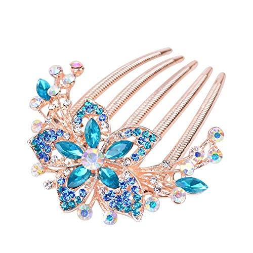 Accesorios Peines para el cabello con diamantes de imitación de flores (