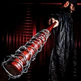 K EXCLUSIVE Lucille - Barbed Wire Wrapped Baseball Bat - Genuine Hardwood, Stainless Steel Barbed Wire - Regulation Size, 32' - Zombie Apocalypse Walker Undead Dead Walking TV Television