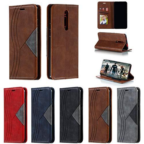 Hülle Handyhülle for Xiaomi Mi 9T/Redmi K20, Premium Leder Flip Schutzhülle [Standfunktion] [Kartenfächer] [Magnetverschluss] lederhülle klapphülle für Xiaomi Mi9T Pro -TTYKB040417 Braun