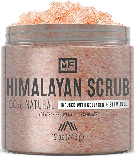 M3 Naturals Himalayan Salt Scrub Infused with Collagen and Stem Cell All Natural Exfoliating Body...